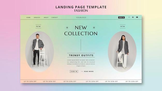 Nouveau modèle de page de destination de collection