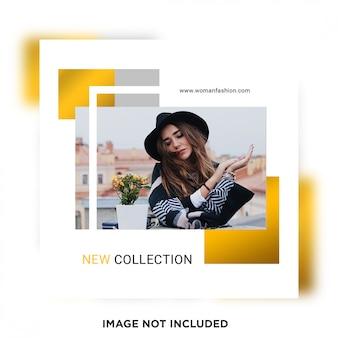 Nouveau modèle de publication sur les médias sociaux de la nouvelle collection