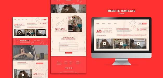 Nouveau Modèle De Site Web De Film Psd gratuit
