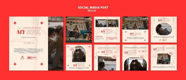 Nouveau post de film sur les réseaux sociaux