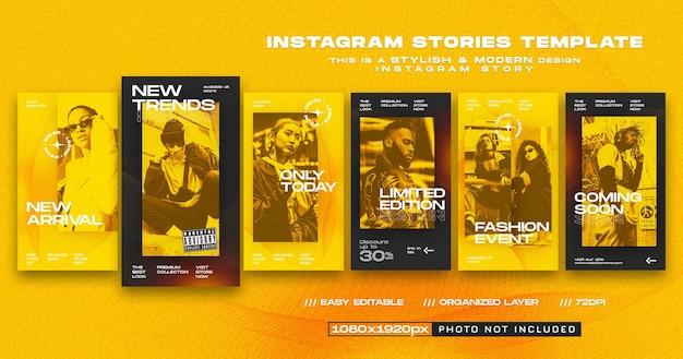 Nouveaux modèles de conception d'histoires instagram d'arrivée