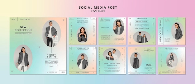 Nouvelle collection de publications sur les réseaux sociaux