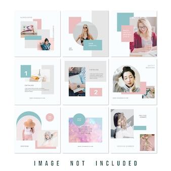 Nouvelle collection de vente de mode flux de puzzle instagram psd premium