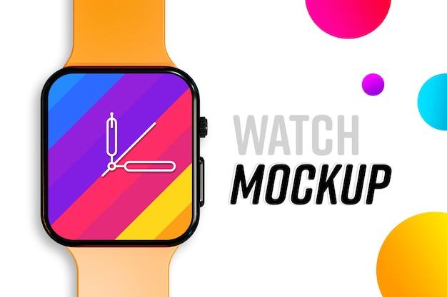 Nouvelle maquette d'écran de montre intelligente moderne