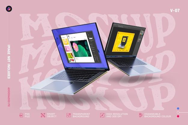 Nouvelle maquette d'écran d'ordinateur portable modifiable de haute qualité moderne