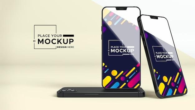 Nouvelle maquette de pack de téléphone