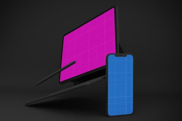 Nouvelle maquette pour smartphone 12 et tablette numérique pro