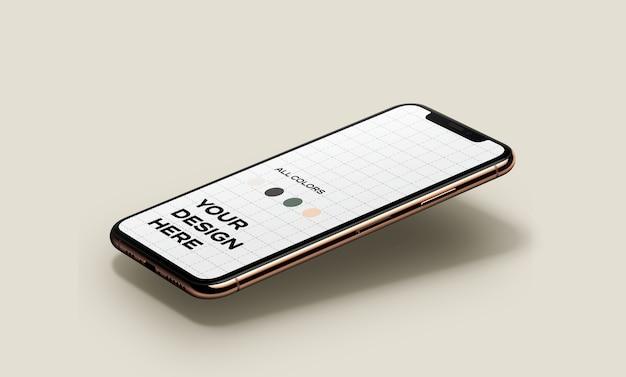Nouvelle maquette de smartphone flottante