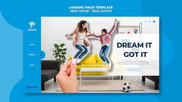 Nouvelle page de destination pour l'immobilier