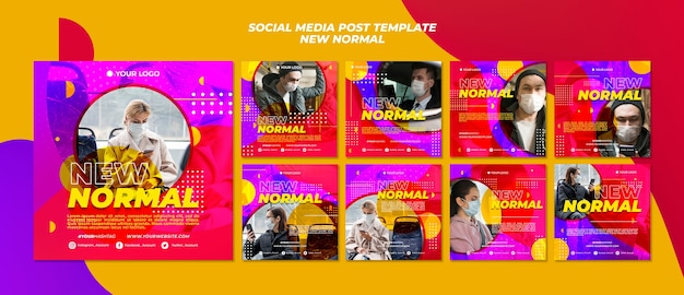 Nouvelle publication normale sur les réseaux sociaux