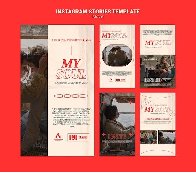 Nouvelles histoires de films instagram