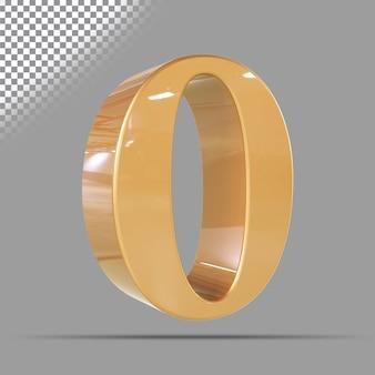 Numéro 0 3d d'or