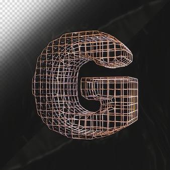Numéro 0 rendu 3d avec vue latérale de texture métallique réaliste