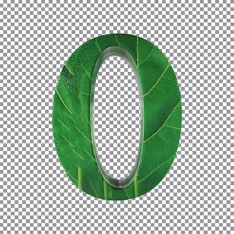 Numéro 0 style feuilles