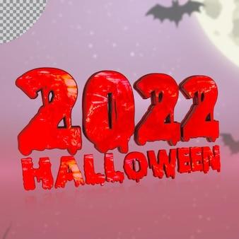 Numéro 3d 2022 d'halloween