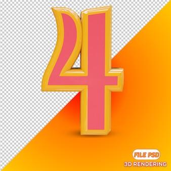 Numéro 3d 4