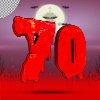 Numéro 3d 70 d'halloween