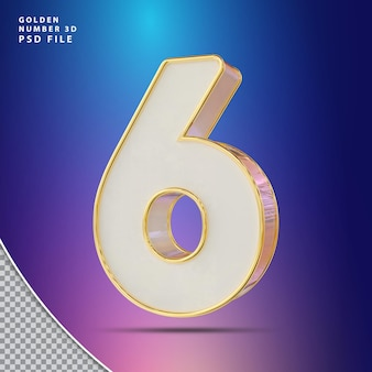 Numéro 6 luxe rendu 3d