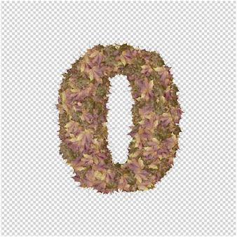 Numéro fabriqué à partir de feuilles d'automne