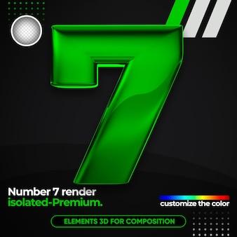 Numéro réaliste un alphabet métallique en 3d