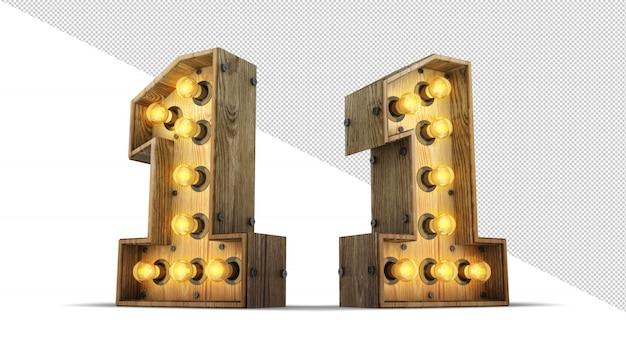 Numéro signe ampoule