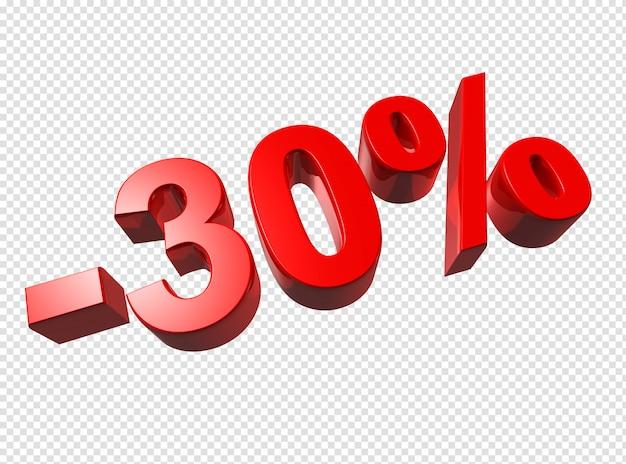 Numéros 3d à 30% PSD Premium