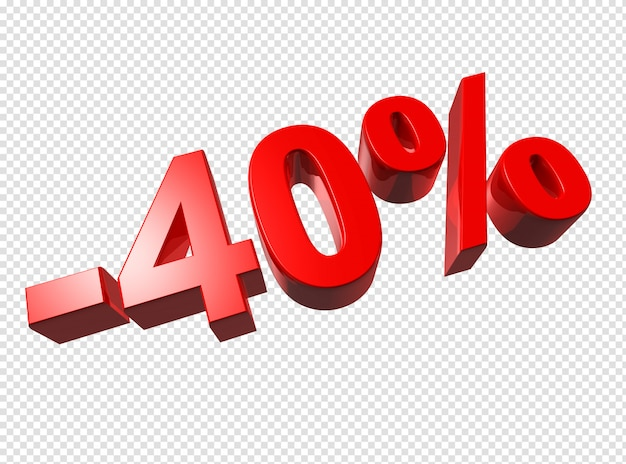 Numéros 3d à 40%