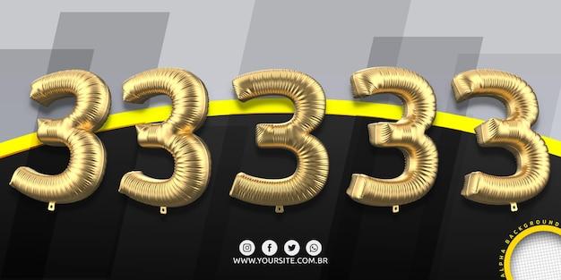 Numérotation dans des ballons en aluminium 3