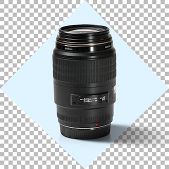 Objectif photo appareil photo sur fond transparent