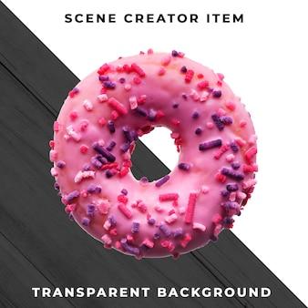Objet donut sur psd transparent