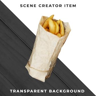 Objet frites transparent psd