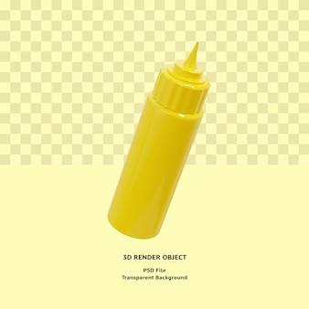 Objet d'illustration de bouteille de mayonnaise 3d rendu premium psd