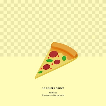 Objet d'illustration de pizza 3d rendu psd premium