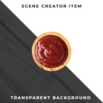 Objet de plaque de sauce psd transparent