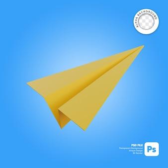 Objet simple 3d avion en papier