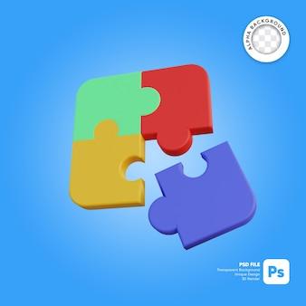 Objet simple icône puzzle 3d