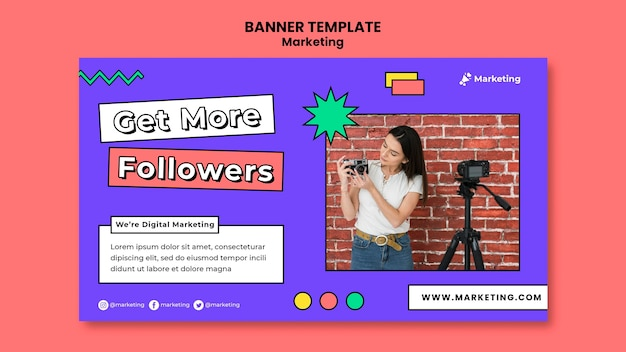 Obtenez un modèle de bannière de stratégie pour les abonnés