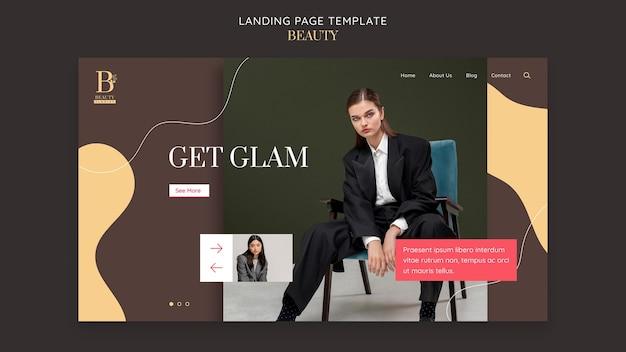 Obtenez un modèle de page de destination glamour