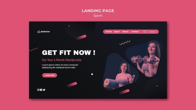 Obtenez la page de destination du concept fit