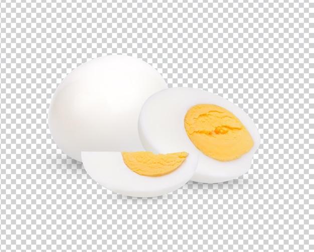 Œuf de poulet, œuf à la coque isolé