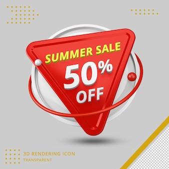 Offre de remise d'été 3d de 50 pour cent en rendu 3d