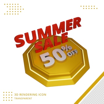 Offre de remise sur les soldes d'été 3d en rendu 3d