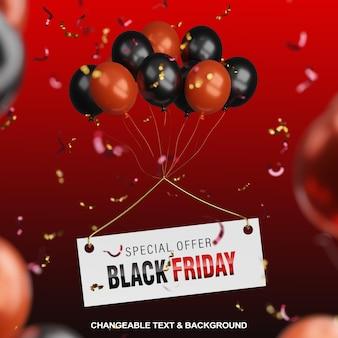 Offre spéciale 3d black friday avec des ballons