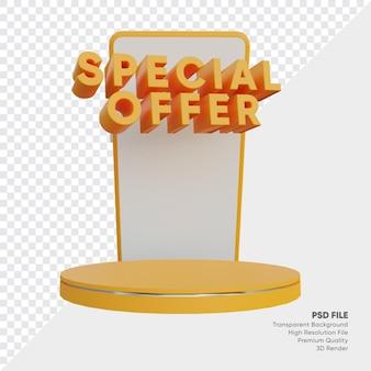 Offre spéciale boutique en ligne podium 3d