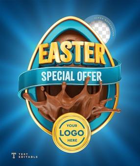 Offre spéciale de pâques rendre le chocolat 3d
