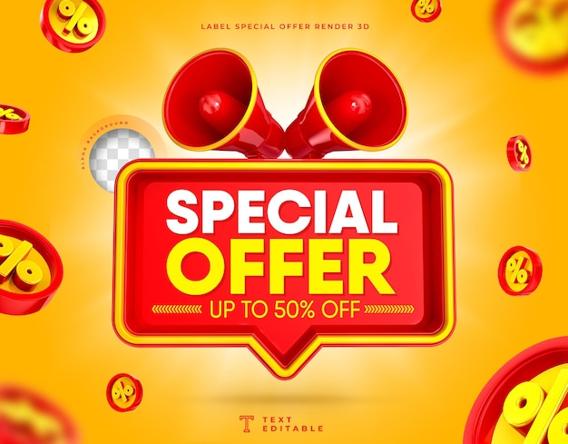 Offre spéciale vente flash 3d megaphone box jusqu'à 50 off