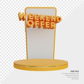 Offre week-end de la boutique en ligne podium 3d