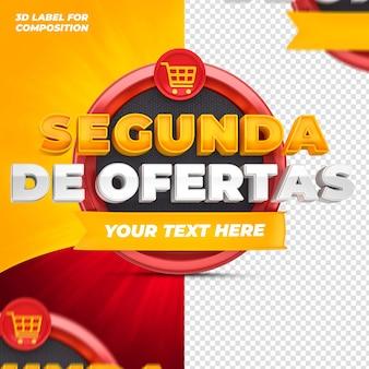 Offres du jour avec podium rouge pour les campagnes brésiliennes rendu 3d