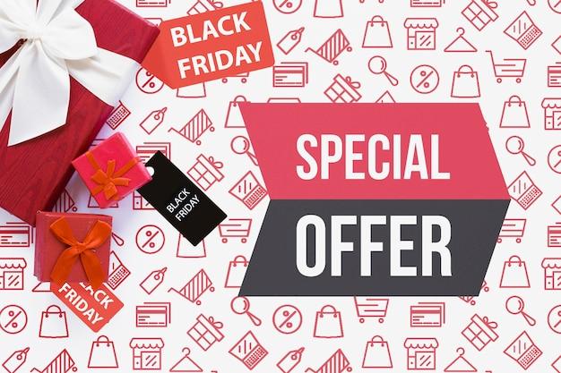 Offres spéciales disponibles le vendredi noir