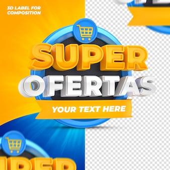 Offres spéciales pour les capaigns brésiliens rendu 3d
